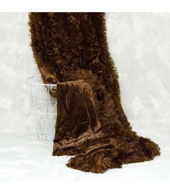 Плед-покривало Viluta хутряний Травка Шоколадний 220х240 см (плед_травка_шоколад)
