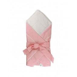 Ковдра-конверт для новонароджених Руно Рожевий 75х75 см (957ХБУ_рожевий)