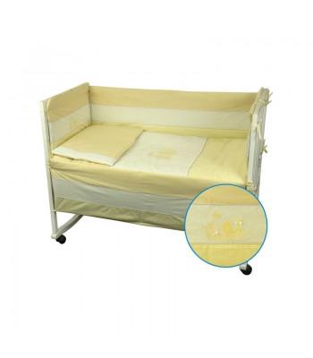 Захисний борт на ліжечко Руно Кошенята Жовтий 60x120 см (922Кошенята_Жовтий)