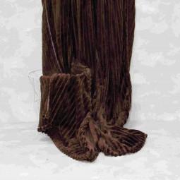 Плед-покривало Viluta Флісове Bamboo Line Коричневе 200х230 см (172106)