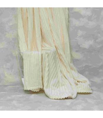 Плед-покривало Viluta Флісове Bamboo Line Молочне 200х230 см (172107)
