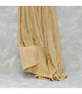 Плед-покривало Viluta Флісове Bamboo Line Бежеве 200х230 см (172101)