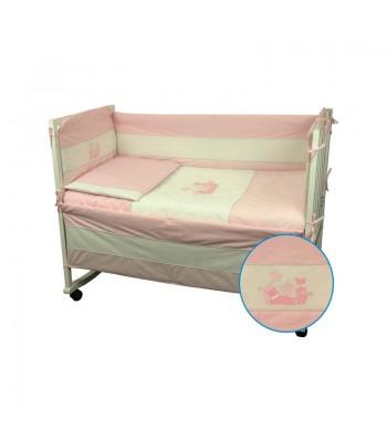 Захисний борт на ліжечко Руно Кошенята Рожевий 60x120 см (922Кошенята_Рожевий)
