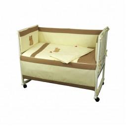 Захисний борт на ліжечко Руно Рижик 60x120 см (922Рудий)