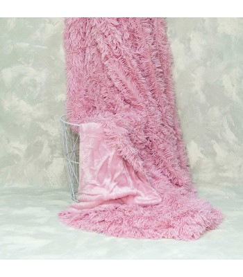 Плед-покривало Viluta хутряний Травка Рожевий 220х240 см (плед_травка_св.роз.)