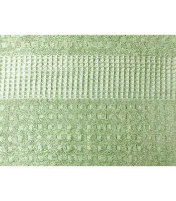 Махрове простирадло Вафелька 180х210 см Зелене (1500)