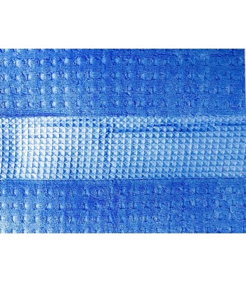Махрове простирадло Вафелька 180х210 см Синє (1500)