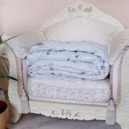 Одеяло Arda Лето голубое с рисунком