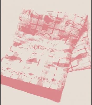 Простирадло льон з махрою 180х210 см Рожеве (7001)
