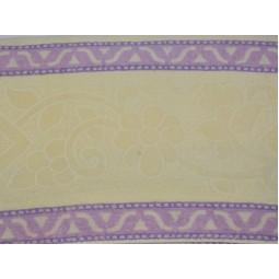 Махрове простирадло Фіолетова Смужка 160х210 см  Бежеве (1295)