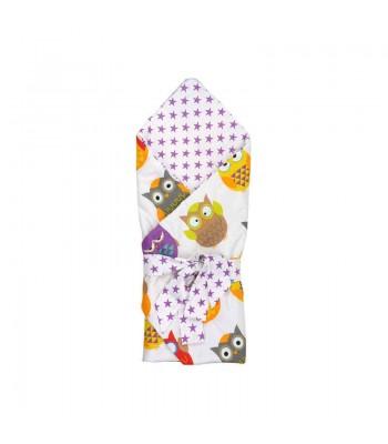 Ковдра-конверт для новонароджених Руно Сови 85х85 см (957СУ_Сови)