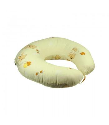 Подушка для годування Руно силіконове волокно + наволочка Бежева 65х65 см (909_Бежевий)