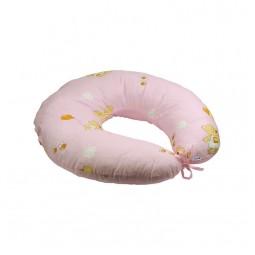 Подушка для годування Руно силіконове волокно + наволочка Рожева 65х65 см (909_Рожевий)