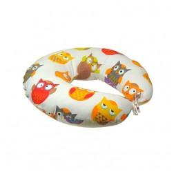 Подушка для годування Руно силіконове волокно + наволочка Сови 65х65 см (909_Сови)