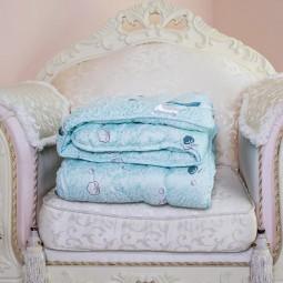 Одеяло Arda Cotton голубое с рисунком