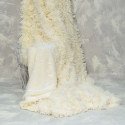 Плед-покрывало Viluta меховый Травка Белый