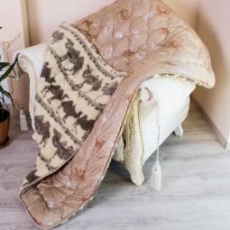Одеяло Arda Меховое коричневое